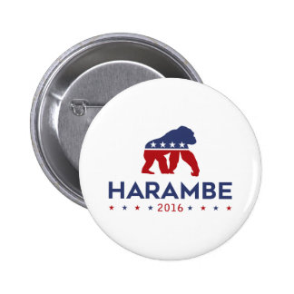Party Animal Harambe 6 Cm Round Badge