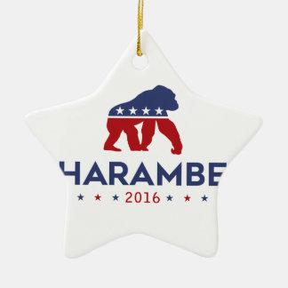 Party Animal Harambe Christmas Ornament