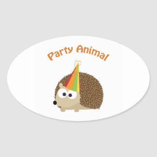Party Animal Hedgehog Stickers