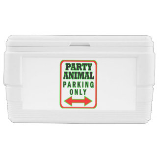 Party Animal Parking Only Cooler