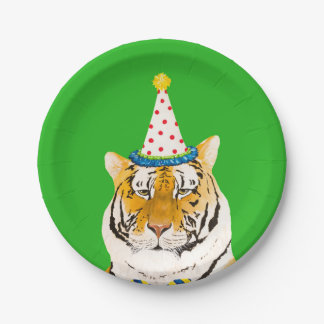 Party Animal Plates- Dapper Tiger Paper Plate