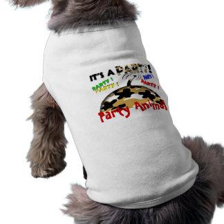 Party Animal Sleeveless Dog Shirt