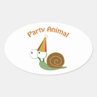 Party Animal Snail Sticker