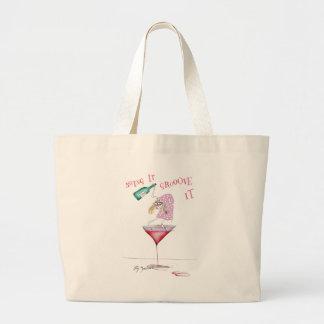 party animal, tony fernandes canvas bag