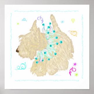 Party Animal Wheaten Scottie Poster