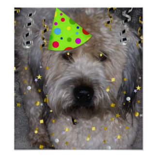Party Animal Wheaton Terrier Print