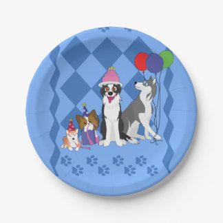 Party Animals 7 Inch Paper Plate