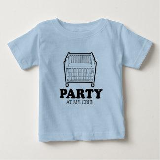Party at my crib baby t-shirt
