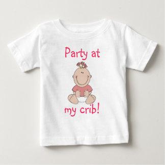Party At My Crib Girl Baby T-Shirt