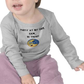 """Party at my crib"" infant shirt"