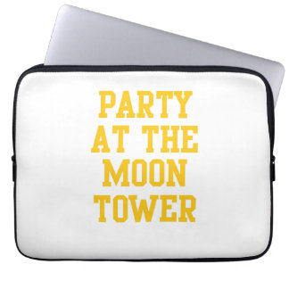 Party at the Moon Tower Laptop Computer Sleeves