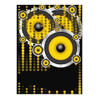 Party Background 14 Cm X 19 Cm Invitation Card