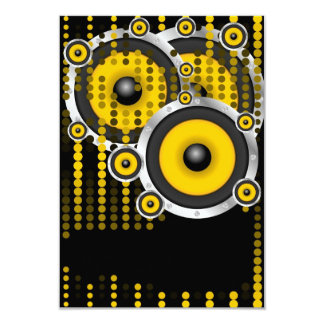"""Party Background 3.5"""" X 5"""" Invitation Card"""