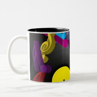 Party Background Two-Tone Coffee Mug