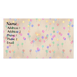 Party Ballons Pack Of Standard Business Cards