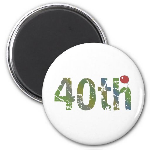 Party Balloon 40th Birthday Gifts Fridge Magnets