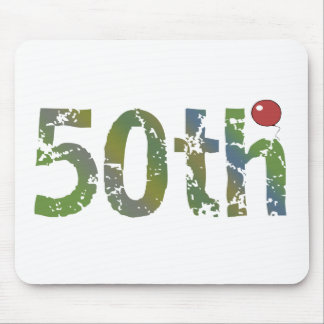 Party Balloon 50th Birthday Gifts Mouse Pad
