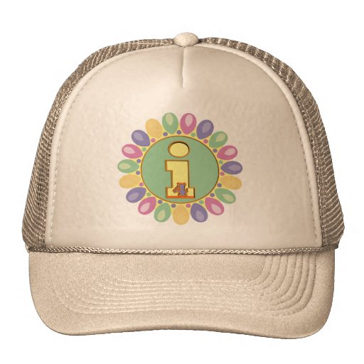 Party Balloons 4th Birthday Gifts Mesh Hat