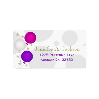 Party Balloons Avery Address Labels