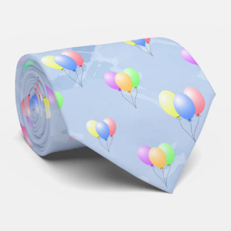 Party Balloons Blue Tie