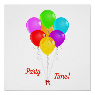 Party Balloons Poster