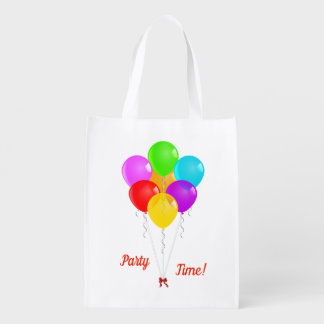 Party Balloons Reusable Grocery Bag
