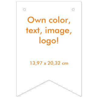Party Banner Swallowtail uni White ~ Own Color