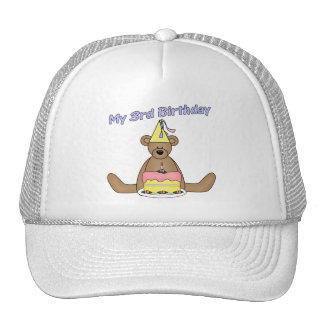 Party Bear 3rd Birthday Gifts Cap