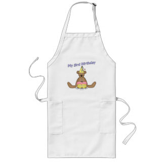 Party Bear 3rd Birthday Gifts Long Apron