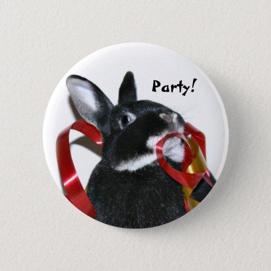 Party Bunny 6 Cm Round Badge