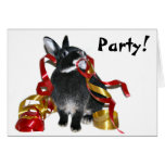 Party bunny greeting card