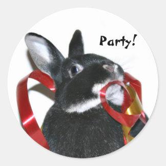 Party Bunny Round Sticker