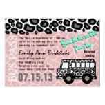 Party Bus Bachelorette Party Bash 13 Cm X 18 Cm Invitation Card