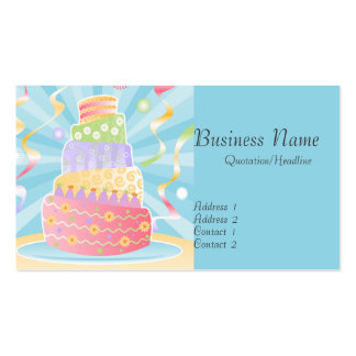 Party Cake Business Cards
