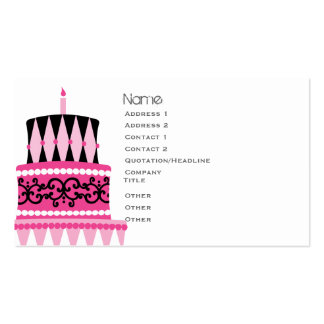 Party Cake Pack Of Standard Business Cards
