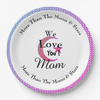 Party-Celebrations-Pink-Moon-Star_Monogram Paper Plate