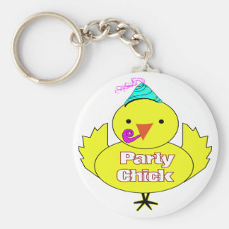 Party Chick Keychain