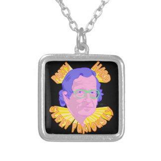 Party Chomsky Square Pendant Necklace