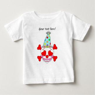 Party Clown Baby Skull T Shirt