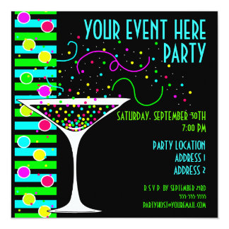 Party Confetti Cocktail Invitation