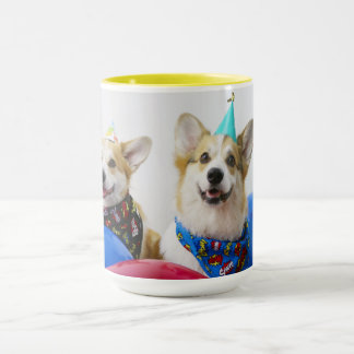 Party Corgis Black 15 oz Combo Mug