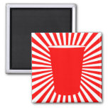 party cup square magnet