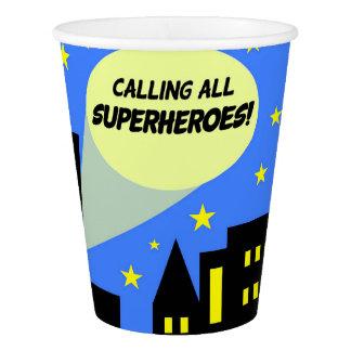 Party cups for Superhero birthday   super hero