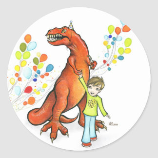 Party Dino Stickers
