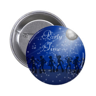 Party Disco Style, 2¼ Inch Round Button