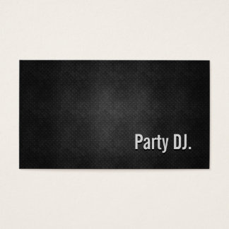 Party DJ Cool Black Metal Simplicity Business Card