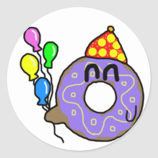 Party Doughnut Classic Round Sticker