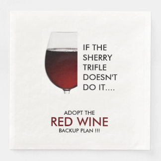 Party drinking joke red wine photograph paper napkin