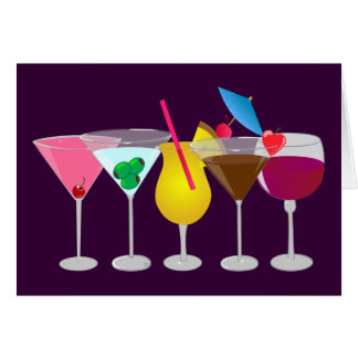 Party Drinks Card