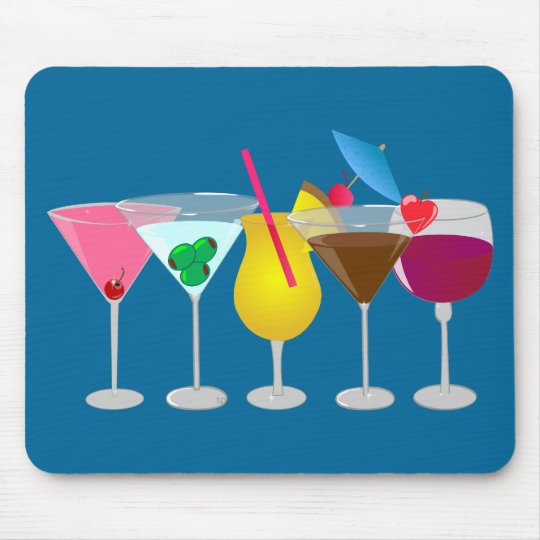 Party Drinks Mouse Mat